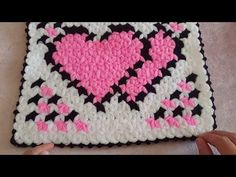 Crochet Heart Granny Square – Crochet Ideas Heart Granny Square, Granny Squares, Crochet Blocks, Valentines Diy, Crochet Ideas, Knit Crochet, Stitch, Blanket, Rugs