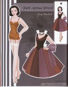 Park Avenue Prowl Gene Marshall paper doll by Siyi Lin | Flickr
