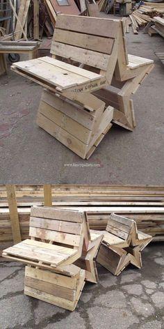 Five star diy wooden pallet bench ideas - Diyprojectsgardens.club - Five star diy wooden pallet bench ideas # wooden pallets - Wooden Pallet Projects, Wooden Pallets, Wooden Diy, Diy Projects, Project Ideas, Pallet Wood, Pallet Benches, Recycling Projects, Wood Wood
