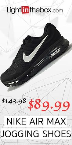 d57dead6cc NIKE AirMax Mens and Women's Running Shoes Black Nike Shoes, Sneakers Nike,  Black Running