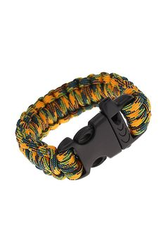 PROMOTION!Paracord Parachute Cord Emergency Kit Survival Bracelet Rope with Whistle Buckle Outdoor Camping Camo-3