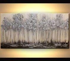 Resultado de imagen para silver abstract paintings