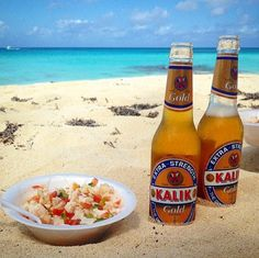 Kalik and fresh conch salad on the beach. Does it get any better? Conch Salad, Bahamian Food, Nassau Bahamas, Paradise Island, Living Room Pictures, Beautiful Islands, Summertime, Cool Photos, Tourism