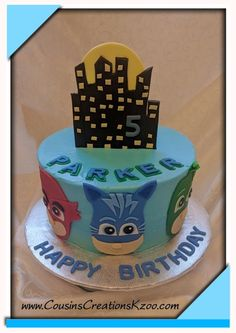 PJ Masks Cake Cousin's Creations Birthday Cakes for Guys - Cousin's Creations