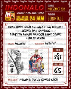 Undian Lotre 3D Togel Wap Online Live Draw 4D Indonalo Gorontalo 19 Desember 2016