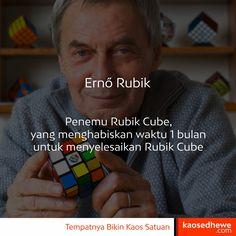 Ernő Rubik, Penemu Rubik Cube ini menghabiskan waktu 1 Bulan untuk menyelesaikan Rubik Cube. Sedangkan rekor saat ini hanya membutuhkan waktu 4 detik 😮 Aneh ya. 😁  Selamat Beraktivitas!  Mau Pesan Kaos Sablon Satuan? dengan desain sendiri? klik kaosedhewe.com/pesansekarang Whatsapp : +6285212348833i kaosedhewe.com - Tempatnya Bikin Kaos Satuan #kaos #sablon #semararang #kaossablon #kaossablon #kaossemarang #kaosdistro #distro #satuan #kaossatuan #sablonsatuan #sablonrubber #kaoscustom…