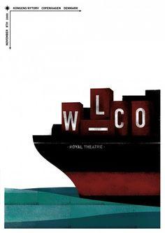 Wilco | Copenhagen, Denmark Nov 8th 2009 | Artwork: Miguel Chorda
