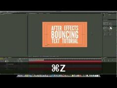 bouncing text in AE