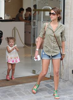 Jessica Alba was spotted in Paris with her sweet daughter