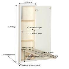 Household Essentials Stowaway In-Wall Built-in Ironing Board | Wayfair