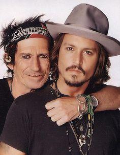 Johnny Depp & Keith Richards by Matthew Rolston, Rolling Stones magazine, 2007
