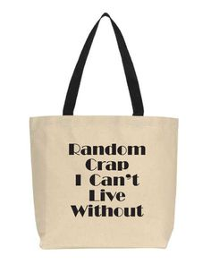 Fast Shipping Great Reviews Funny Tote Bag.  by PinkPigPrinting