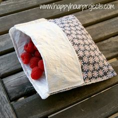 Reusable Lined Snack Baggies - Happy Hour Projects