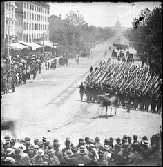Matthew Brady, Civil War Victory Parade on Pennsylvania Avenue, Washington, D.C., 1865