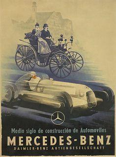By Jupp Wiertz (1888-1939), 1935,  Mercedes-Benz, Medio siglo de construcción de Automoviles. (G)