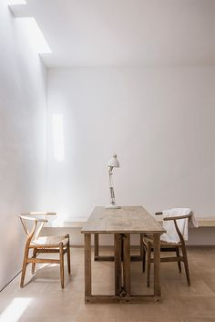 Minimalistic understated dining room | John Pawson