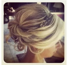 I want my bridesmaids to have their hair up.