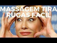 Como remover rugas faciais com massagem - Como eliminar rugas no rosto fácil - YouTube