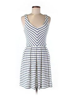Get $20 store credit to shop on ThredUp!   Blue and white striped sundress