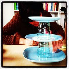Etagere made by your own. Glue and dishes.Thats all you need!!