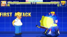 SpongeBob SquarePants And Homer Simpson VS Bushwacker & Red Ranger In A MUGEN Match / Battle / Fight This video showcases Gameplay of The Red Ranger From The Mighty Morphin Power Rangers Series And Bushwacker The Supervillain VS Homer Simpson From The Simpsons Series And SpongeBob SquarePants In A MUGEN Match / Battle / Fight