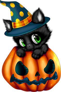 tubes halloween - Page 11 Chat Halloween, Halloween Mignon, Halloween Friday The 13th, Halloween Vintage, Halloween Cartoons, Halloween Clipart, Halloween Goodies, Halloween Pictures, Halloween Cards