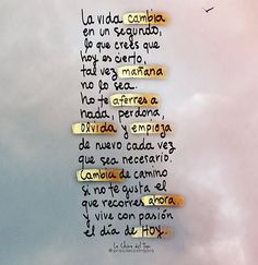 Frases del corazón Positive Phrases, Positive Quotes, Positive Vibes, More Than Words, Some Words, Words Quotes, Me Quotes, Attitude Quotes, Inspirational Phrases