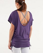Love this! The top attaches to your sports bra so you can have the cool open back without your top falling off your shoulders.