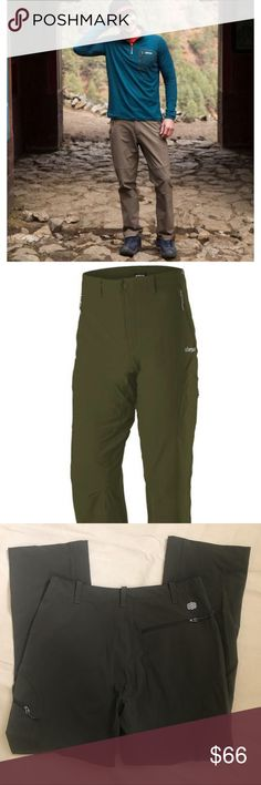 NWOT- Sherpa Khumbu pant Juniper green 32Wx30L NWOT- Sherpa no-wrinkle Khumbu pant Juniper green 32Wx30L. State-of-the-art fabric ideal for traveling. Four-way stretch for long flight comfort or when you're high-stepping up boulders on the trail. Water resistant fabric's pebbly texture reminiscent of elephant skin & is almost as tough. YouTube fit&feature video: https://www.sherpaadventuregear.com/collections/mens-bottoms/products/khumbu-pant           NWOT- unused condition. Smoke Free Home…