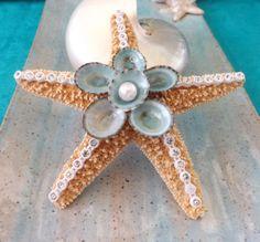 Embellished Starfish Ornament #holidays #ornaments #nautical #coastal #beach