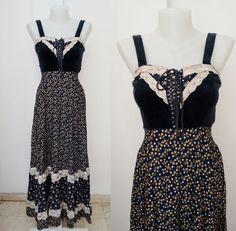 GUNNE SAX vintage Maxi dress 70s Hippie-chic by DorisVintage
