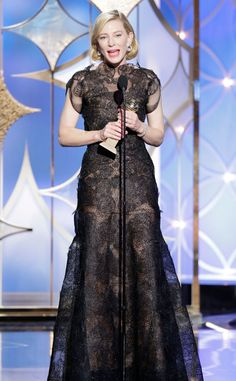 Cate Blanchett from 2014 Golden Globes - Organza appliqued with lace!!