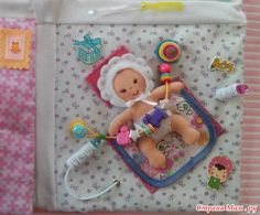 Baby quiet book page...I'd get a pacifier from the party supply section for props and string that on too! Mdb