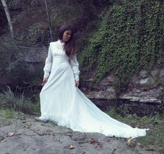Vintage 1970s Bohemian Wedding Dress by ViejitaCustomVintage