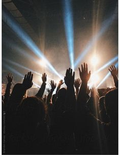 Hands Raised at Live Concert by B. Harvey for Stocksy United # concert Worship Wallpaper, Worship Backgrounds, Worship Night, Praise And Worship, Jesus Is Life, Church Graphic Design, Christian Wallpaper, Christian Backgrounds, Music Aesthetic