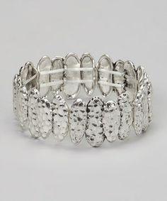 Look at this #zulilyfind! Silver Pond Stretch Bracelet by Treska #zulilyfinds