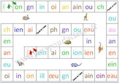 jeu de l'oie des graphèmes French Language Lessons, French Lessons, Word Study, Word Work, Phonics Sounds, French Kids, Education And Literacy, French Classroom, French Resources