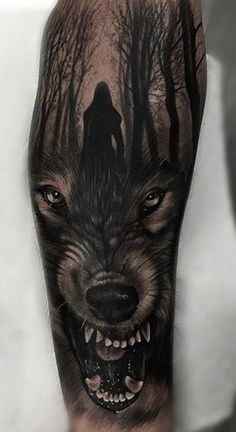 Like trees, person. Change to closed mouth wolf. Like trees, person. Change to closed mouth wolf. Wolf Tattoo Forearm, Forarm Tattoos, Lion Tattoo, Skull Tattoos, Black Tattoos, Body Art Tattoos, Hand Tattoos, Tattoo Arm, Tattoo Wolf