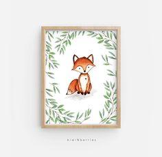 Nursery Decor Boy, Woodland Nursery, Woodland Animals, Nursery Prints, Nursery Wall Art, Woodland Creatures, Nursery Ideas, Baby Boy Art, Neutral Art