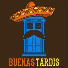 Buenas Tardis Funny T-Shirt Doctor Who Textual Tees