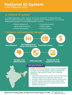 What are the pros and cons of a national ID system? Right To Privacy, Public Service, Civil Service