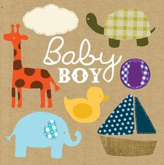 Image of Toys - Baby Boy Gift Card. Blueberry Paper