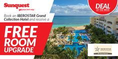 FREE Upgrade at select IBEROSTAR Hotels & Resorts http://www.sunquest.ca/en/iberostar-hotels-resorts-deals