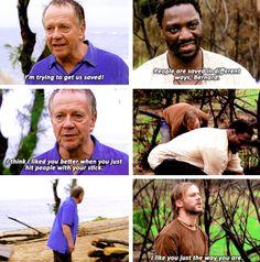 """People are saved in different ways, Bernard"". - Mr. Eko #lost"
