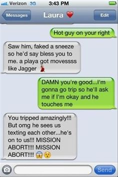 Sounds like something @Kristy Lumsden Loomis ☮ and i would say- hahahaha yes! MISSION ABORT!!