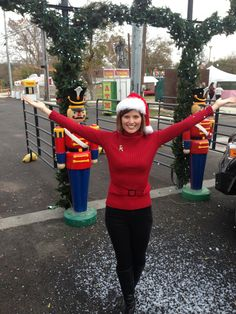 "December 3rd, 2014 - It's such fun to be out live in the community.  KEYE took its show on the road to San Marcos for Sights and Sounds of Christmas and I got to enjoy the ""snow"" falling!  Turtleneck sweater from Kohl's a couple years ago.  I bought it since I like the belt accent which gives it a little flair!"