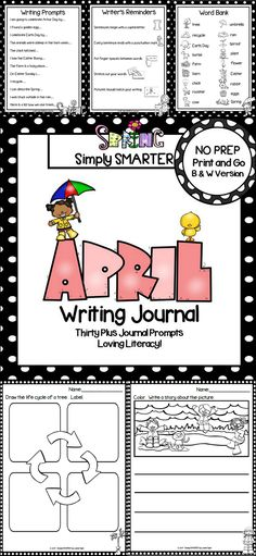 Are you looking for a NO PREP literacy activity for preschool, kindergarten, or first grade? Then enjoy this writing journal which is comprised of THIRTY PLUS SPRING themed WRITING JOURNAL PROMPTS. The differentiated journal prompts can be used for writers' workshop, literacy centers, independent work, content lessons, and homework. The journal pages can be chosen by the teacher to best meet the needs of the student and assembled into a journal with the provided cover.