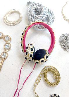 Make DIY Bedazzled Crown Headphones!