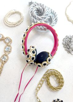 Make DIY Bedazzled Crown Headphones!