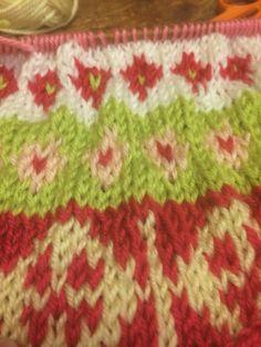 First attempt at Fairisle knitting